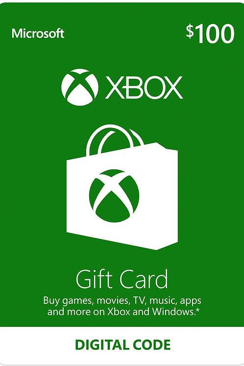 100 USD Xbox Live Gift Card Microsoft