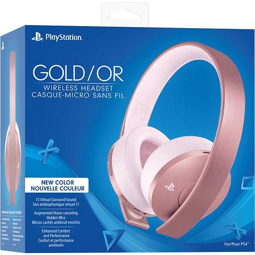 Headset New Gold Inalambrico 7.1 Surround Rose Gold