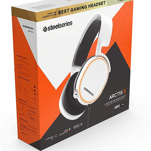 Headset SteelSeries Arctis 5 blanco
