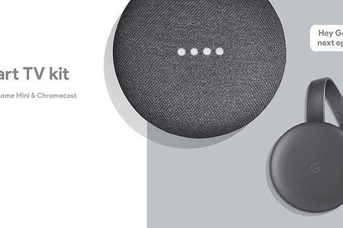 Smart TV Kit Google Home Mini & Chromecast 3