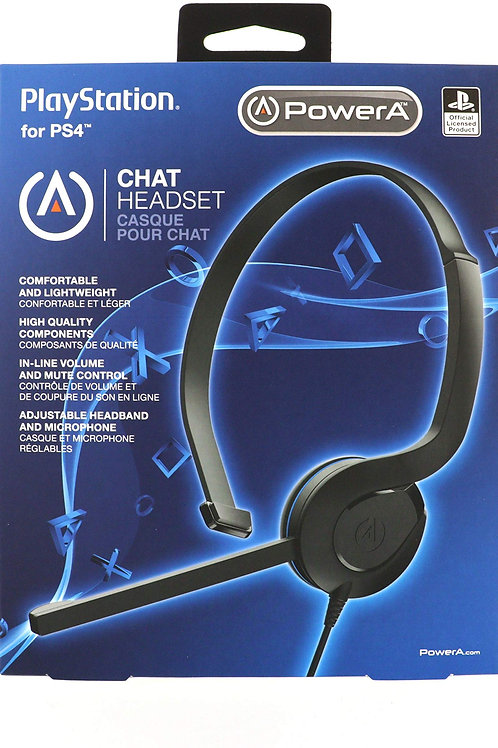 Power A Chat Headset PlayStation 4