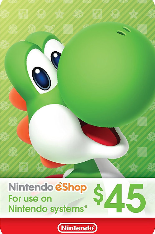 45 USD eCash Tarjeta Nintendo eShop - Switch / Wii U / 3DS