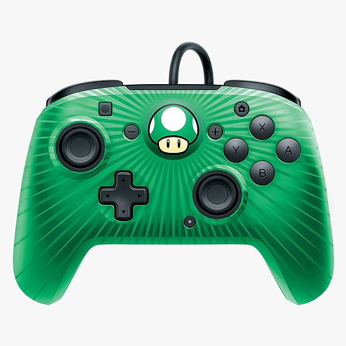 Control Alambrico Nintendo Switch Face Off Verde