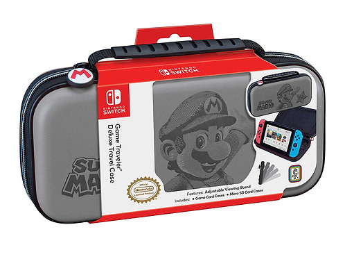 Estuche Nintendo Switch Mario Gris
