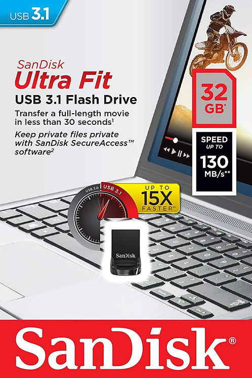 Llave Maya 32 Gb Sandisk Ultra Fit 3.1 Flash Drive