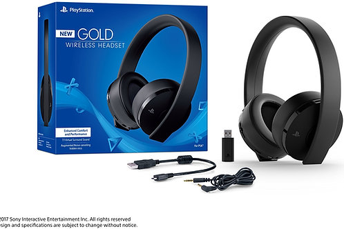 Headset New Gold Inalambrico 7.1 Surround Negro