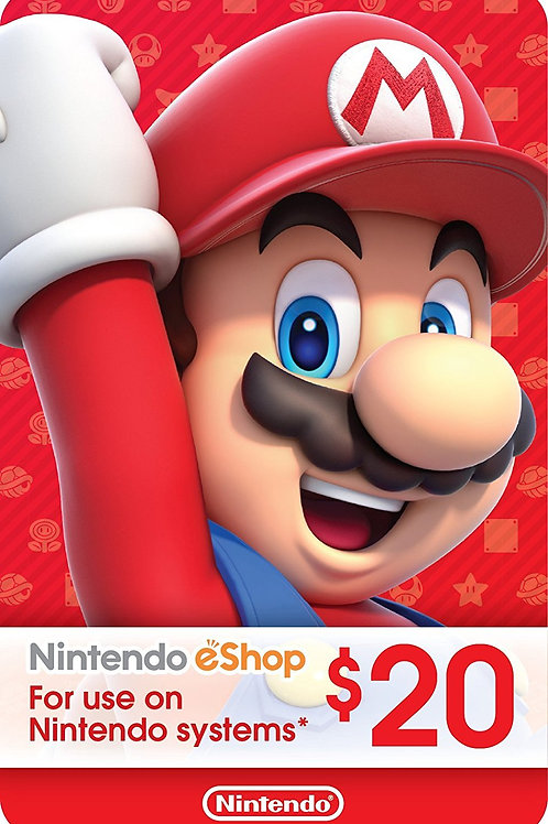 20 USD eCash Tarjeta Nintendo eShop - Switch / Wii U / 3DS