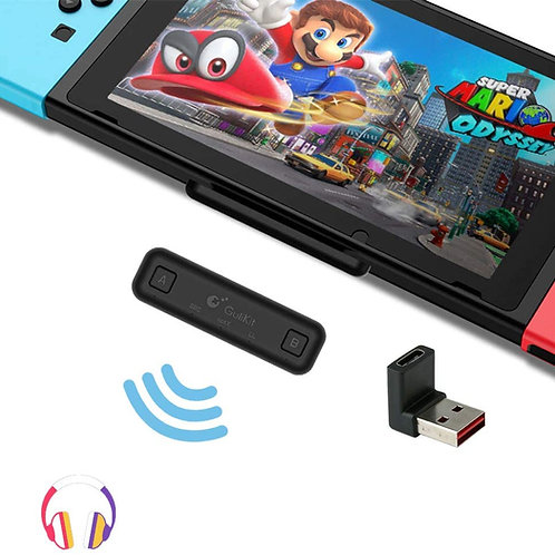 Transmisor de audio Bluetooth Nintendo Switch, PS4, PC