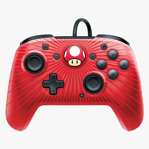 Control Alambrico Nintendo Switch Face Off Rojo