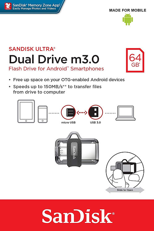Llave Maya 64 Gb Dual Drive 3.0 Sandisk Ultra