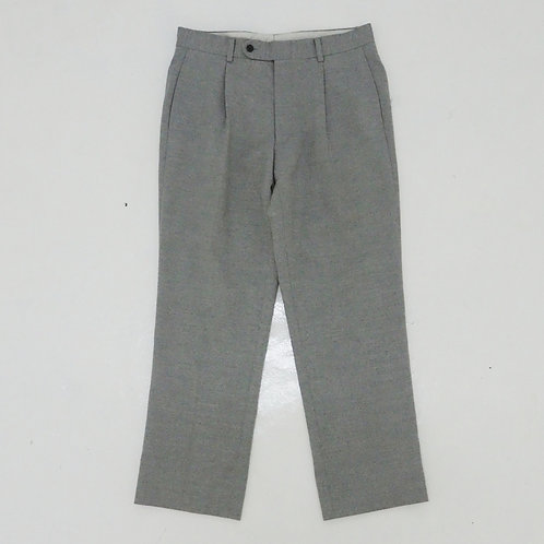 1990s Burberry Wool Single Pleated Pants - W32