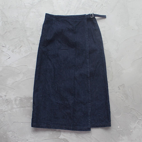 Uniqlo A-Line Denim Skirt - Size L