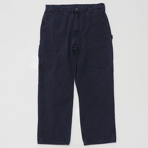 Carhartt Faded Navy Carpenters Pants - W34