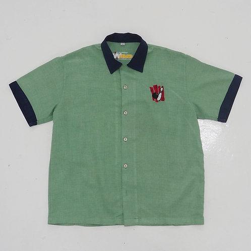 'SEA SIDE BOWL' Bowling Shirt - Size M
