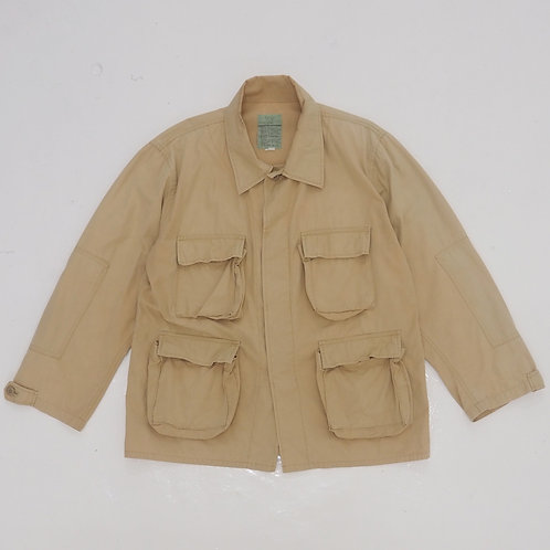 Military Ripstop Fatigue Jacket (Beige) - Size L