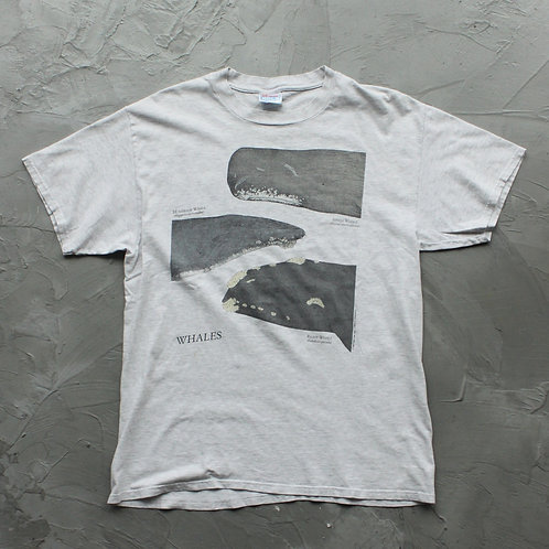 1994 Vintage Whales Graphic Tee - Size L