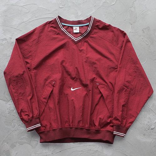 1990s Vintage Nike Nylon Pullover (Maroon) - Size L