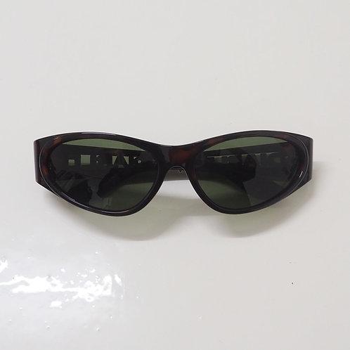 1990s Diablo NOS Tortoise Wraparound Sunglasses - Size OS