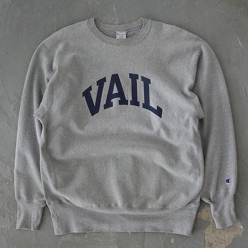 1990s Champion 'VAIL' Reverse Weave Sweatshirt - Size XL