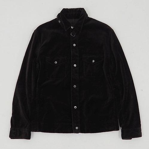 Brown Velvet Button Down Shirt - Size M