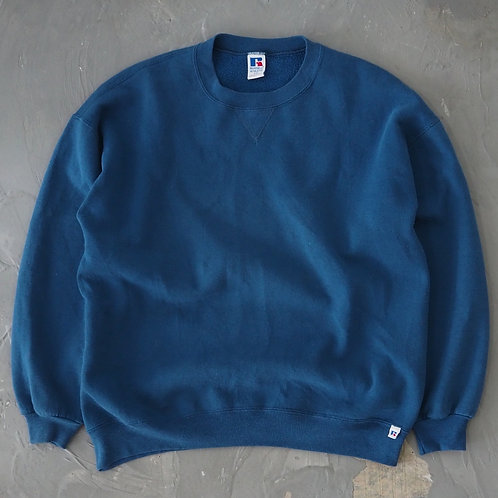 1990s Russell Turquoise Sweatshirt - Size 2XL