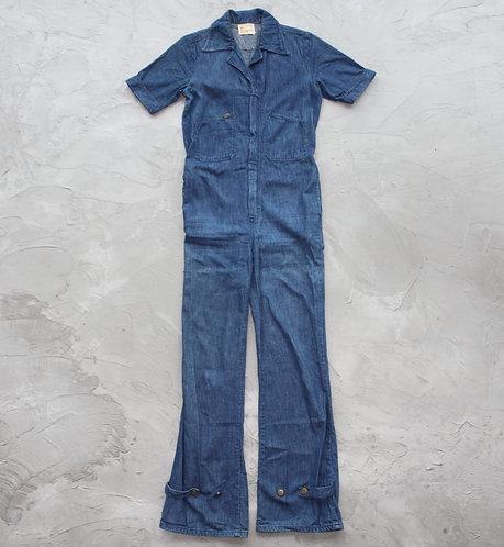 Vintage Lee Short Sleeves Jumpsuit - Size S