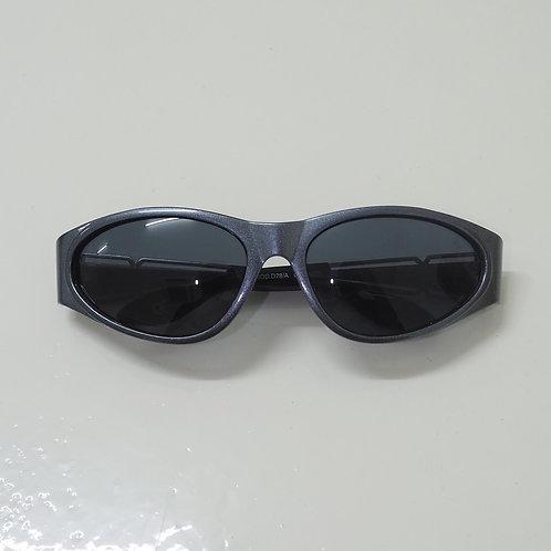 1990s Diablo NOS Metallic Blue Wraparound Sunglasses - Size OS