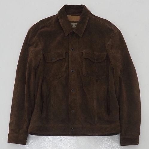 1990s L.L Bean Suede Leather Trucker Jacket - Size M