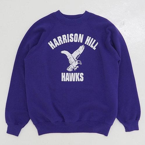 1990s 'Harrison Hill Hawks' Sweatshirt - Size L