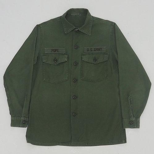 1960s OG107 Military Shirt - Size L