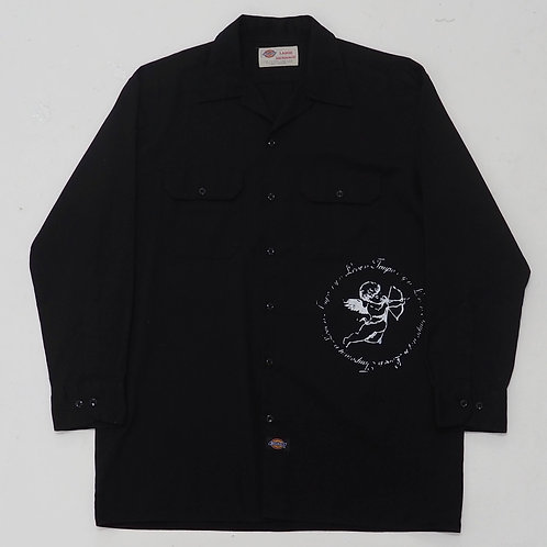 TEMPORARY 1 of 1 Hand-printed Open Collar Shirt - Size L