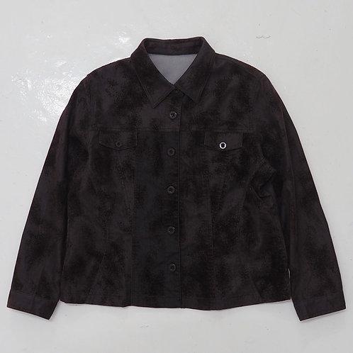 Distressed Velvet Trucker Jacket - Size M