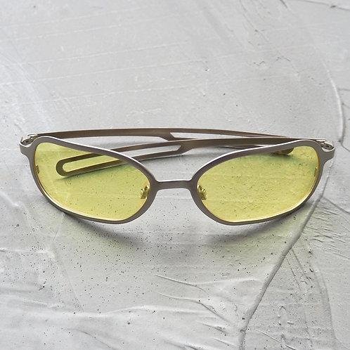 Vintage Metal Frame Sunglasses - Size OS