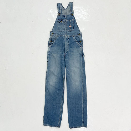 Edwin 101 Washed Denim Overall - Size S