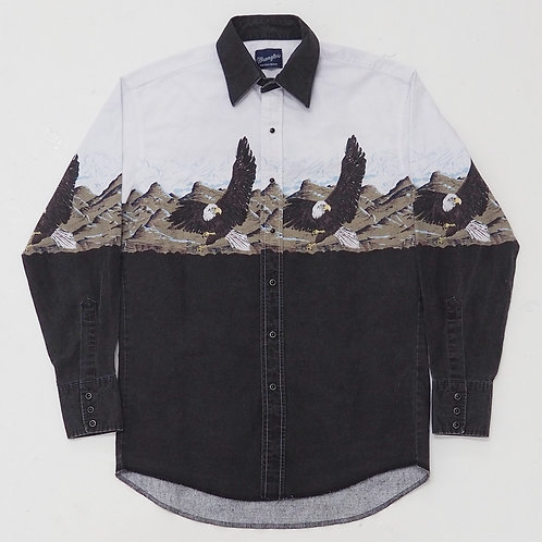 Wrangler 'Eagles' Western Shirt - Size M