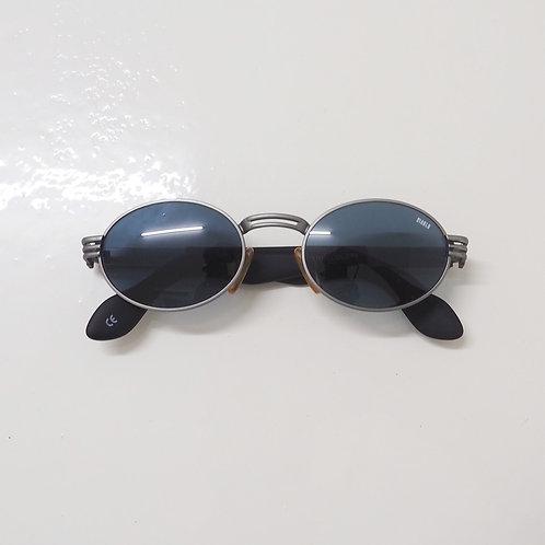 1990s Diablo NOS Metallic Grey Round Sunglasses - Size OS