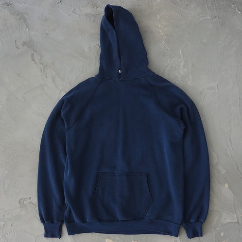 1980s Discus Athletic Navy Faded Hoodie - Size 2XL