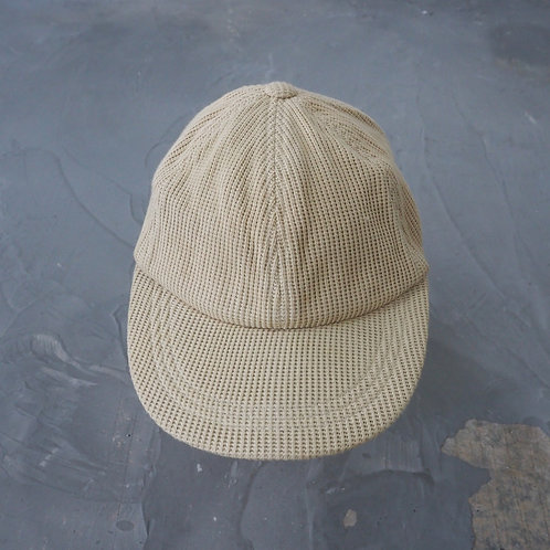 Cream Cotton Textured Cap - Size L/XL