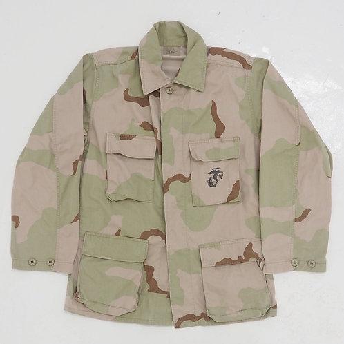 1990s USMC Camouflage Fatigue Jacket - Size S