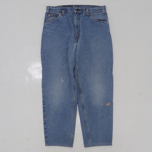 1990s Levi's Orange Tab 550 Washed Tapered Jeans - W32