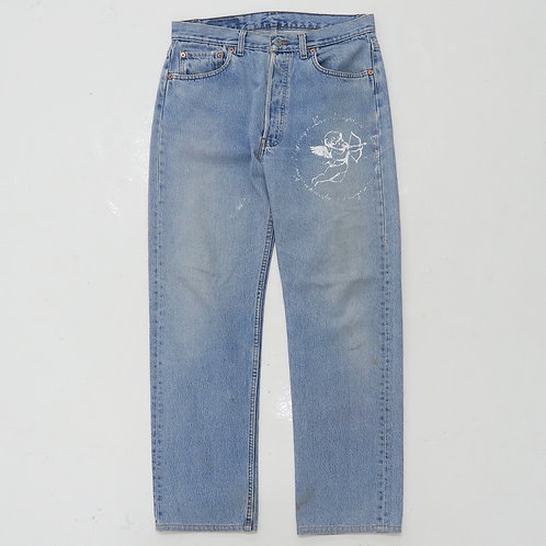 TEMPORARY 1 of 1 Hand-printed Washed Jeans - W32