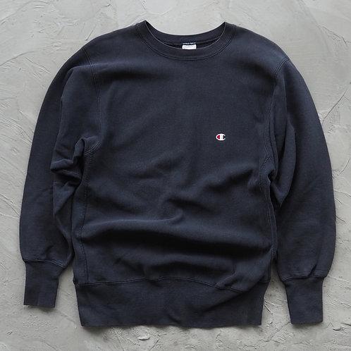 1990s Vintage Champion Reverse Weave Sweatshirt (Black) - Size L