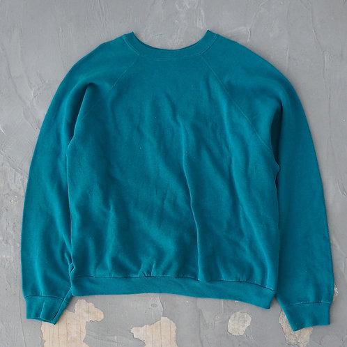 1990s Tultex Turquoise Sweatshirt - Size L