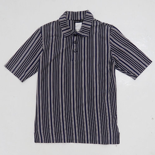 Agnes B. Homme Striped Polo Shirt - Size S