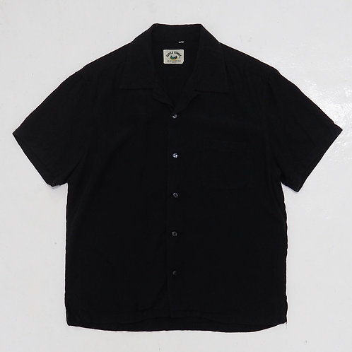 Castle Combe Black Open Collar Shirt - Size S