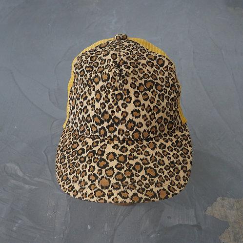 Leopard Print Trucker Hat - Size OS