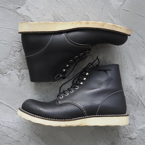 Red Wing Round Toe Boots (Black) - US9