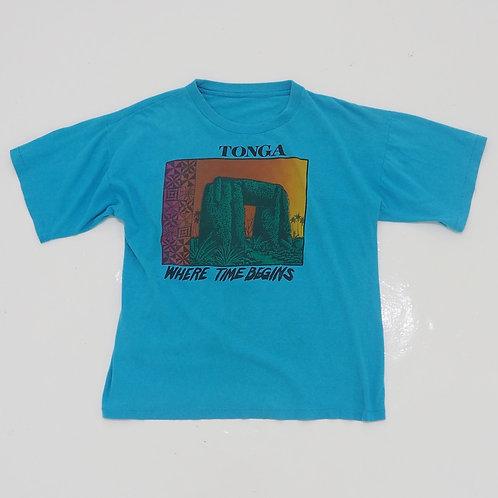 1990s 'TONGA' Graphic Tee - Size L