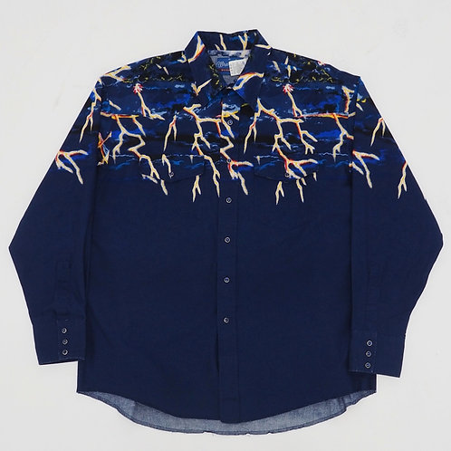1990s Wrangler Lightning Western Shirt - Size XL