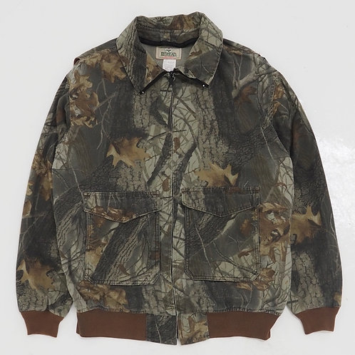 1990s Redhead Realtree Camouflage Bomber Jacket - Size XL